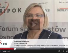 Wypowiedź Poseł na Sejm Krystyny Pośledniej, w sprawie zmian w gospodarce odpadami